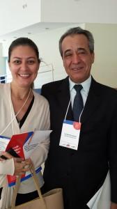 Flávia R.Branco com o ilustre Dr. Tomáz de Aquino Resende